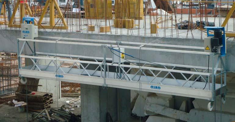 Colgantes motorizados para construcción